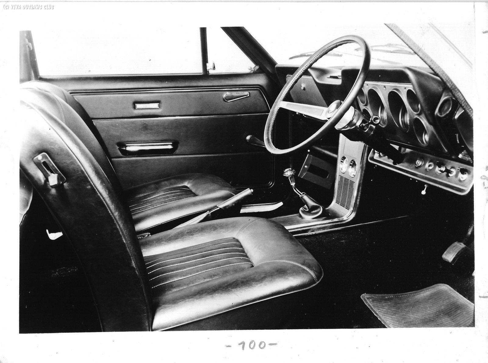 GT Viva GT MKI Interior B&W Press Photo