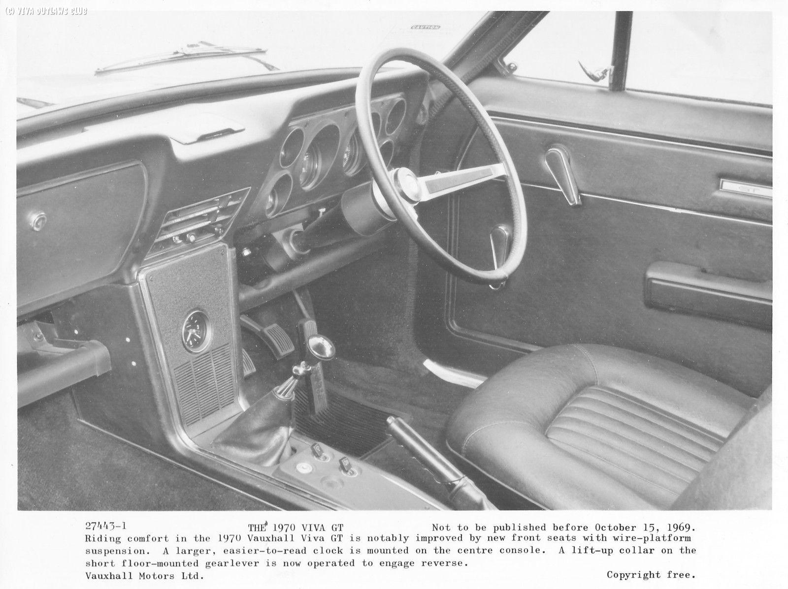 GT Viva GT MKII Interior B&W Press Photo